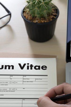 Cv – Curriculum Vitae (job Interview Concept With Business Cv Re